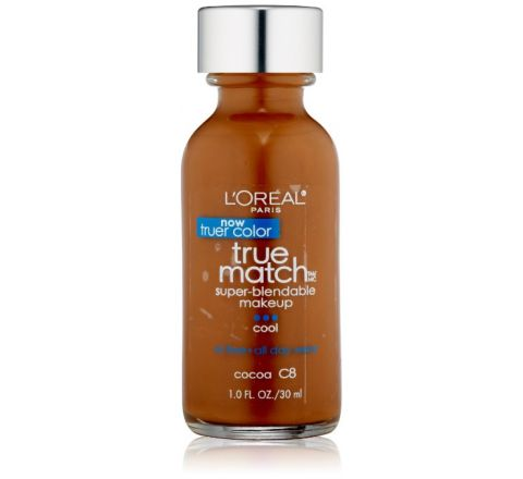 L'Oreal Paris True Match Super Blendable Makeup, Cocoa C8, 1.0 Ounces