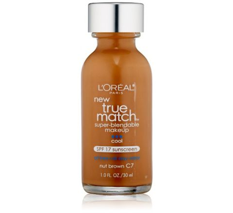 L'Oreal Paris True Match Super Blendable Makeup, Nut Brown C7, 1.0 Ounces