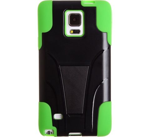 Note 4 2 Piece Kick stand Green & Black