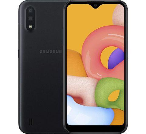 "Samsung Galaxy A01 16GB/2GB RAM (SM-A015M/DS) Dual SIM, 5.7"" Display, GSM Unlocked, International Version - Black"
