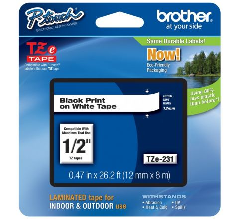 """Brother TZ231a - 1/2"""" Tape"""
