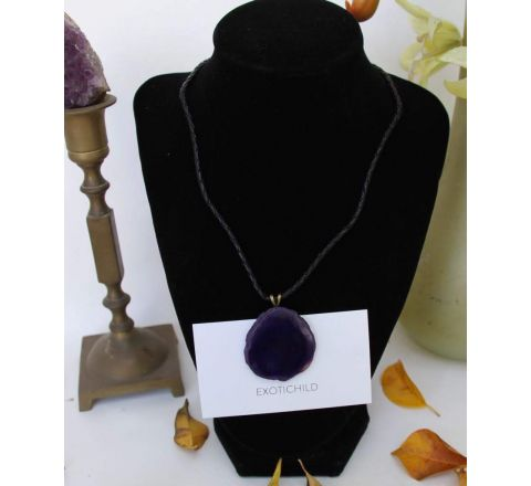 EXOTICHILD Simple Agate Necklace NCRY1