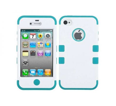 MyBat iPhone 5s/5 Tuff Hybrid Case - Blue & White