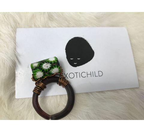 Exotichild Natural Shell & Bead Ring RTS12