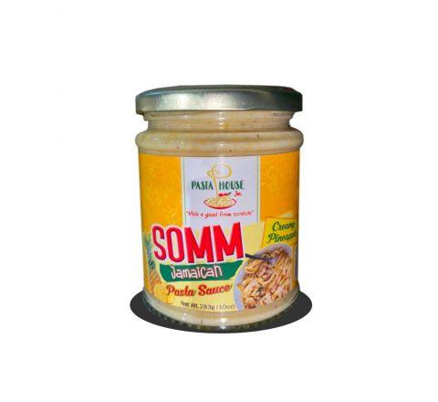 SOMM Jamaican Pasta Sauce, Creamy Pineapple 16oz