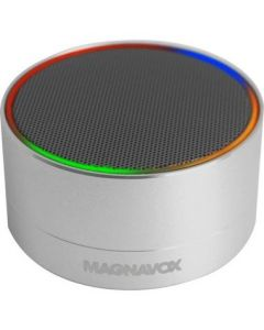 MAGNAVOX MMA3652-GY Portable Bluetooth Stereo Speaker in Grey with Color Changing Rim