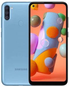 """Samsung Galaxy A11 6.4"""" A115M/DS 32GB 2GB RAM (GSM Only, No CDMA) International Version - No Warranty (Blue)"""