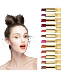 MISKOS 12 Colors Matte Waterproof Summer Long Lasting Lip Makeup No Fade Pigmented Lipstick