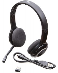 Logitech Over-The-Head Wireless Headset H600 for computers via USB receiver