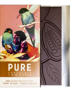 PURE 68% Dark Chocolate with Slow Roasted Nibs  3.5 oz / 100 grams each