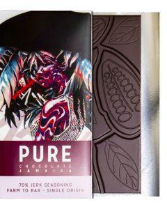 PURE 70% dark chocolate with Jerk seasoning 3.5 oz / 100 grams each