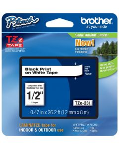 "Brother TZ231a - 1/2"" Tape"