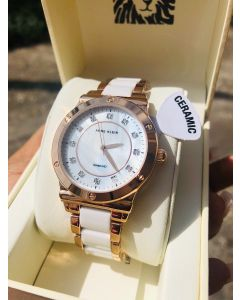 Anne Klein Diamond-Accented Ceramic Watch