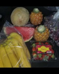 Sweet Fruit Box (Pineapple, Watermelon, Ripe Banana, Cantaloupe , Strawberry, Papaya, Apples)