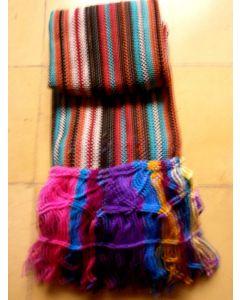 Jamaica made stripe techno macrame  shawl