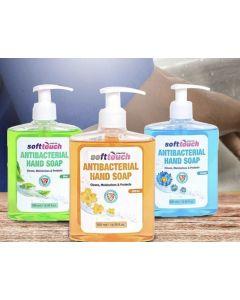 Soft Touch Antibacterial Liquid hand soap (12 x 500 ml bottles/case)