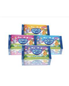 Aqua Soft Pocket Wet Wipes 15 PACKS