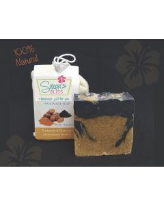 Handmade Turmeric & Bamboo Charcoal Soap