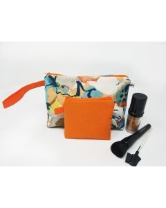 Floral Abstract Makeup Bag Set, Medium