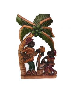 Exotichild, Mento Band by Barrington Beaumont Cedar Wood Carving