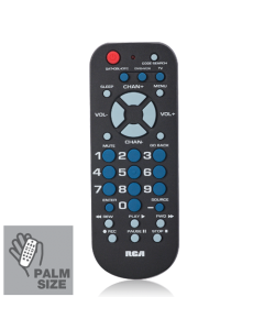 RCA RCR503BE 3-Device Palm-Sized Universal Remote