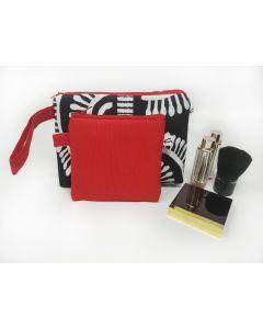 Black and White Makeup Bag Set, Small