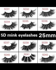 5D Mink Eyelashes Fluffy Soft Wispy Handmade False Eyelashes Dramatic Luxurious Soft for Women
