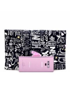 Graffiti Clutch - Black and White