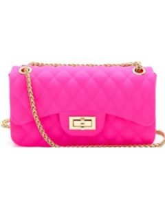 Quilted Jelly Clutch - Pink