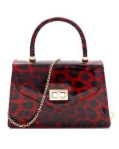 Leopard Mini Clutch - Red