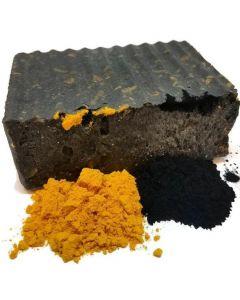 Turmeric & Charcoal Soap Bar- Gentle Soap. 4 oz Bar (1 Pack)