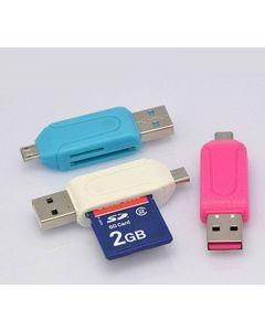 USB/Micro USB memory card adapters