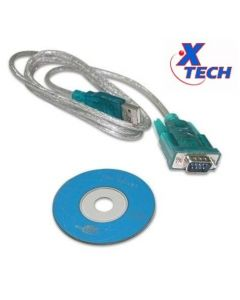 Xtech Male USB to Serial Adapter (XTC-319)