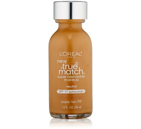 L'Oreal Paris True Match Super Blendable Makeup, Classic Tan N7, 1.0 Ounces