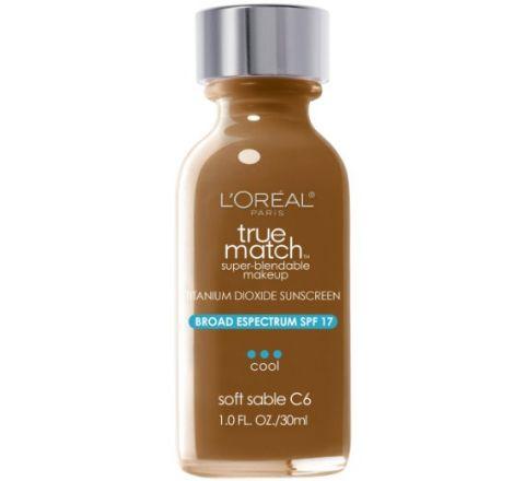 L'Oreal Paris True Match Super Blendable Makeup, Soft Sable C6, 1.0 Ounces