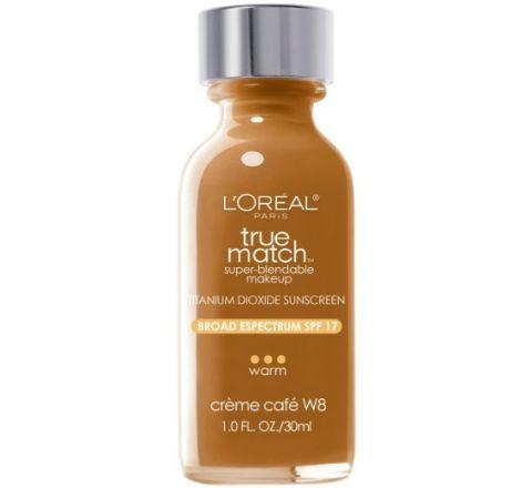 L'Oreal Paris True Match Super Blendable Makeup, Creme Cafe W8, 1.0 Ounces