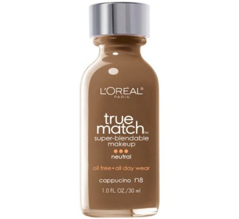 L'Oreal Paris True Match Super Blendable Makeup, Cappuccino , 1.0 Ounces