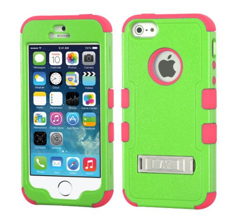 MyBat iPhone 5s/5 Tuff Hybrid Case - Teal Green/Pink