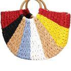 Straw Clutch Handle Bag