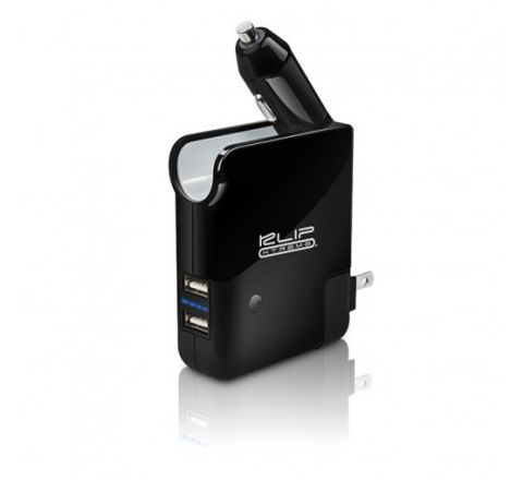 Klip Xtreme 3-in-1 Travel Charger with Dual USB, Car Charger & Power Bank (KMA-210)