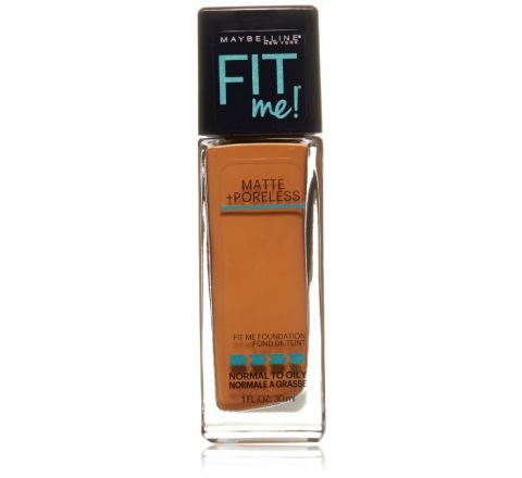 Maybelline New York Fit Me! Foundation, 338 Spicy Brown, 1.0 Fluid Ounce