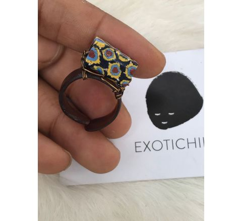 Exotichild Natural shell & Bead Ring RTS22