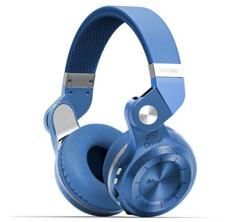 Bluedio T2 Plus Turbine Wireless Bluetooth Headphones with Mic/Micro SD Card Slot/FM Radio