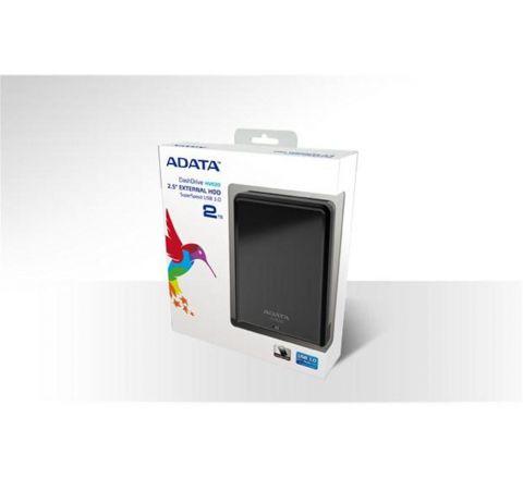 ADATA HV620 DashDrive (2TB) USB 3.0 External Hard Disk Drive (AHV620-500GU3-CBK) - Black